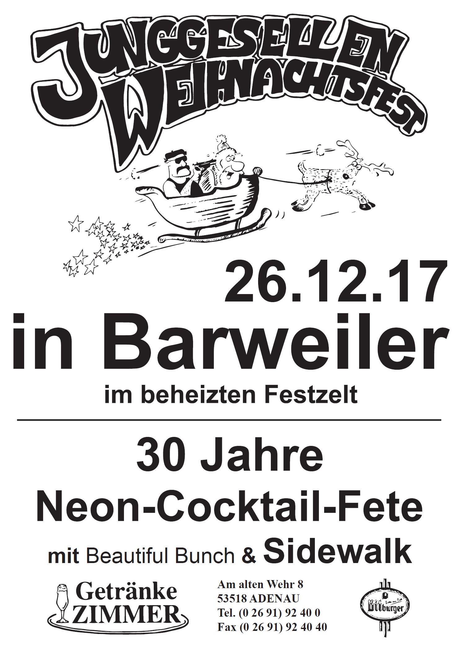 Plakat JGV Weihnachtsfest 2017